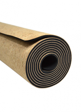 Cork Yoga Mat - Cork Textile + EPDM